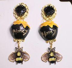 6939 Baroque Honey Bee Long Earrings