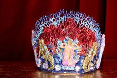 6945 Baroque Hand Painted Nautical Marine Mermaids Coral Reef Stunning Crown