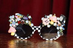 6946 Alice In Wonderland Fancy Embellished Sunglasses