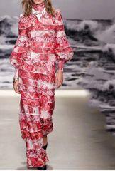 6960 Runway 2020 2 Colors Tile Patchwork Maxi Dress