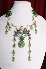 7006 Art Jewelry 3D Effect No Monkey Business Pineapple Necklace