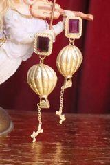 7017 Baroque Enamel 3D Effect Balloon Unusual Studs Earrings