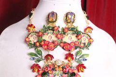 7018 Young Marie Antoinette Bright Flowers Studs Earrings