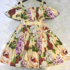 7024 Runway 2020 Flower Print Spaghetti Mini Dress