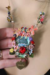 SOLD! 7039 Moulin Rouge Enamel Genuine Opal Necklace+ Earrings