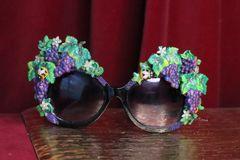 7058 Baroque Grapes Hand Painted Embellished Embellished Sunglasses