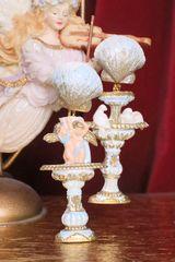 7146 Baroque Cherub Vintage Style Doves Roman Column Light Weight Irregular Studs Earrings