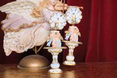 7147 Baroque Cherub Vintage Style Roman Column Light Weight Studs Earrings