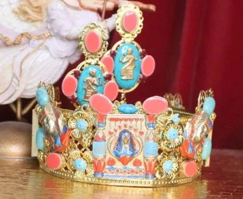 7181 Egyptian Revival Genuine Turquoise Stunning Headband Crown