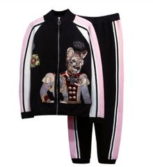 7186 Runway 2020 Sport Chic Victorian Cat Embroidery Twinset