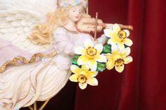 7222 Art Jewelry 3D Effect Dona Anna Flower Hand Painted Light Weight Earrings Studs