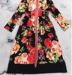 7229 Runway 2020 2 Colors Floral Print Midi Dress