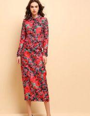 7230 Runway 2020 Baroque Floral Print Fancy Blazer+ Skirt Twinset