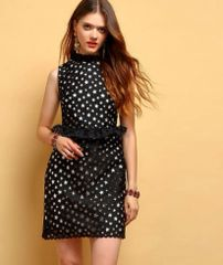 7232 Runway 2020 Cut Out Star Print Mini Dress