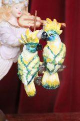 7250 Art Nouveau Vivid Hand Painted Light Weight Parrots Earrings