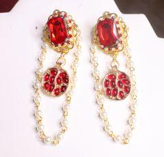7256 Baroque Pomegranate Pearl Elegant Earrings