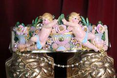 7266 La Moda Baroque Runway Chubby Cherubs Angels Embellished Waist Gold Belt Size S, L, M