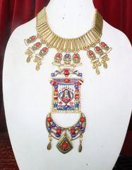 7267 Egyptian Revival Pharaoh Huge Massive Necklace