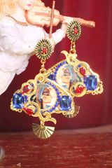SOLD! 7300 Egyptian Revival Cleopatra Cameo Earrings