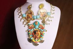 SOLD! 7365 Egyptian Revival Cleopatra Necklace