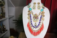7384 Egyptian Revival Genuine Turquoise Pharaoh Necklace