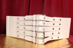 7385 La Moda Wide Corset Blush Waist Gold Belt Size M,L