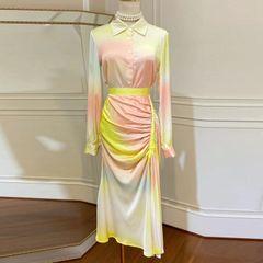 7404 Runway 2020 Tie-Dye Pastel Blouse + Skirt Twinset