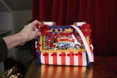 7410 Teatro Di Puppi Striped PU LEather Purse/Handbag