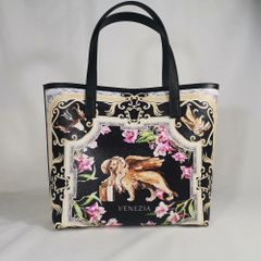 7423 Baroque Designer Inspired Lion Flower Print Beach PU Handbag