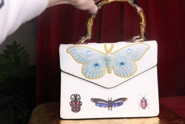 7431 Baroque Designer Inspired Moth Print PU Purse Crossbody