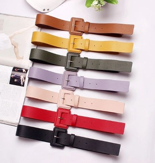 7475 Runway 2020 3 Colors PU Leather Belt