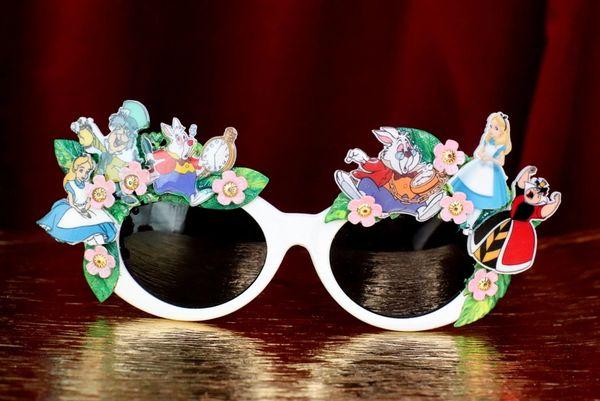 7595 Alice In Wonderland Fancy Embellished Sunglasses