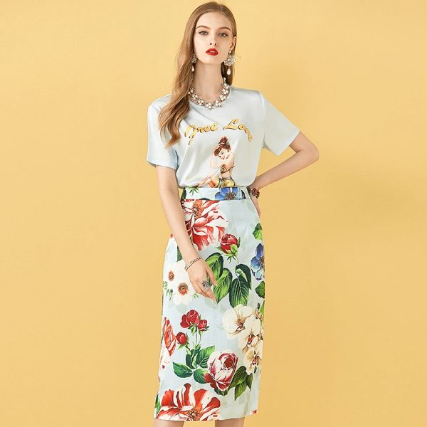 7647 Designer Inspired Runway Cotton Dress With Jean Belt