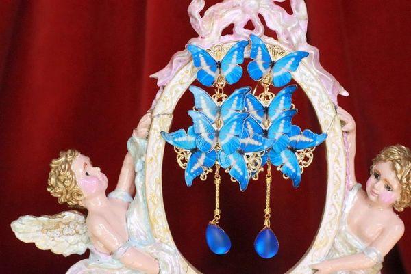 7698 Art Nouveau Butterfly Long Earrings Studs