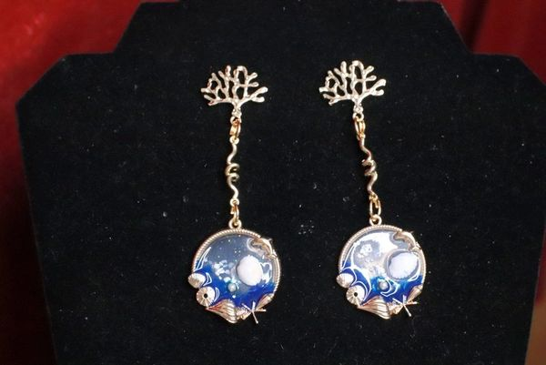 7720 Nautical Ocean Dangle Earrings