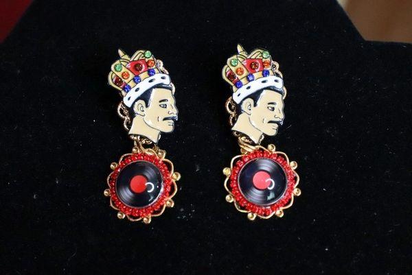 7738 Queen Freddie Mercury Roses Rock Earrings Studs