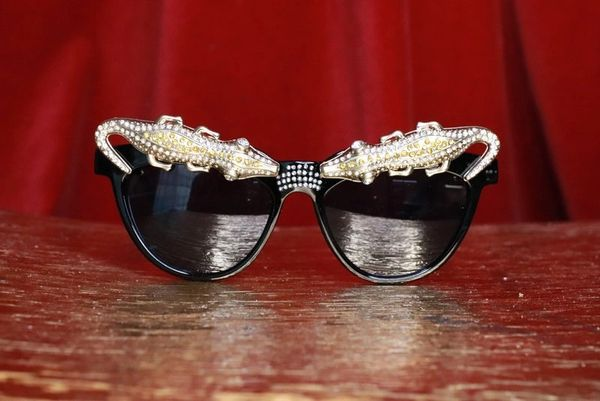 7777 Baroque Crocodile Alligator Embellished Funky Sunglasses
