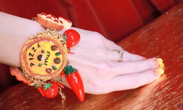 7844 Baroque Italian Pizza Unusual Adjustable Massive Bracelet