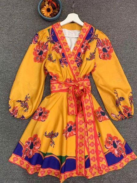 7866 Runway 2020 Flair Boho Festive Mini Dress