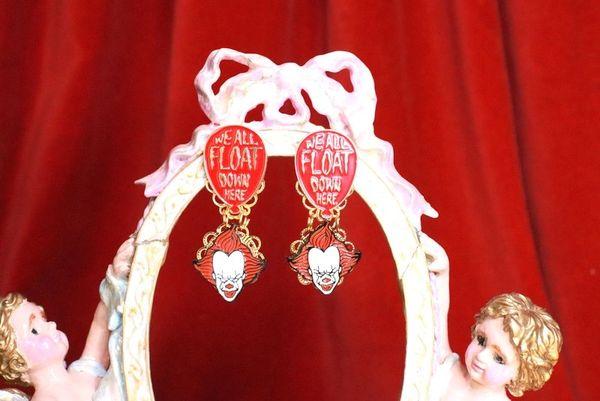7900 Enamel IT Clown Earrings
