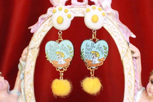 7904 Enamel Dog Lovers Earrings