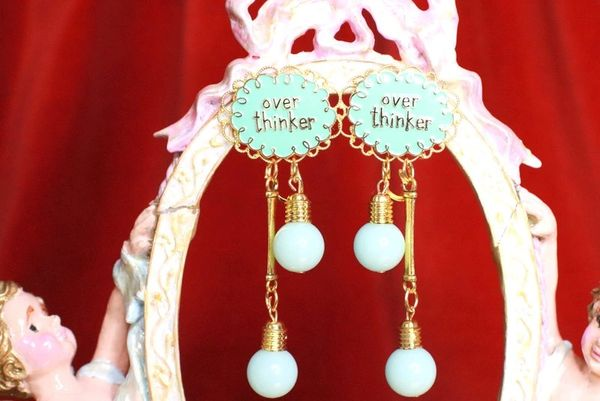 7909 Enamel Overthinker Earrings