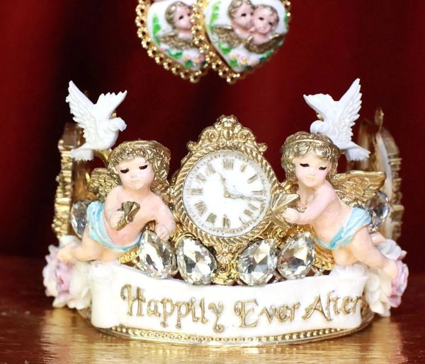 7969 Rococo Bridal Cherubs Angels Flower Doves Full Tall Crown Headband