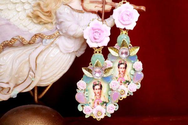 7994 Frida Kahlo Pastel Mint Studs