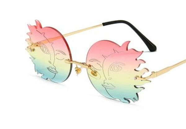 8041 Art Nouveau Sun Moon Colorful Sunglasses
