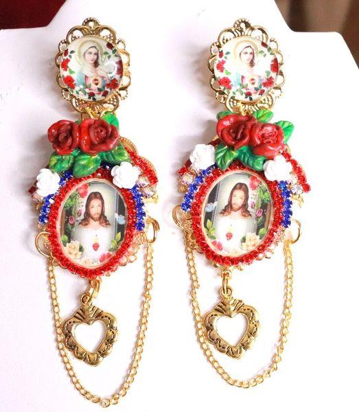 8091 Church Lord Jesus Studs Dangle Earrings