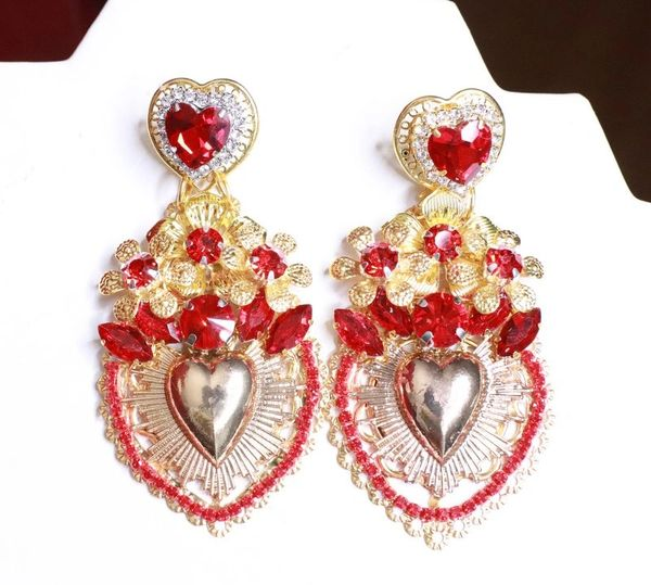 8101 Alta Moda Sacred Heart Baroque Huge Filigree Studs