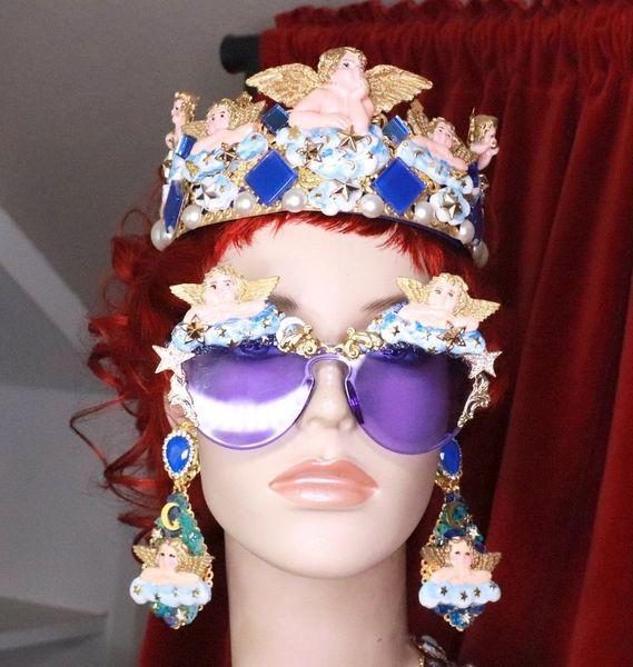 8119 Baroque Raphael Cherubs Angels Clouds Embellished Sunglasses
