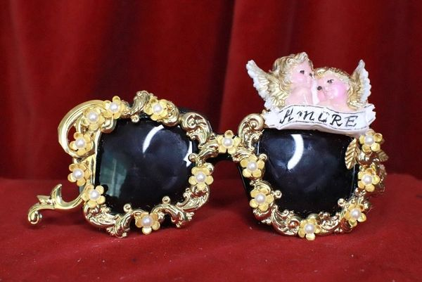 8123 Baroque Cherubs Angels Banner Amore Embellished Sunglasses
