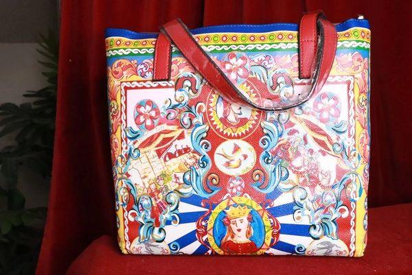 8126 Baroque Print Colorful Print Beach PU Handbag